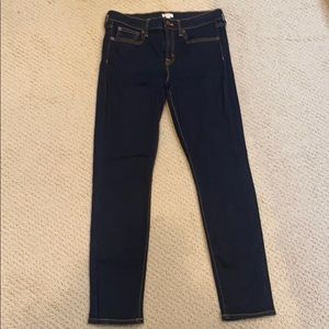 J. Crew Dark Wash Straight Leg Jeans